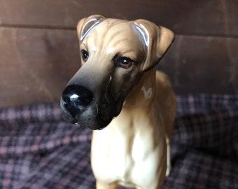 Big~Beautiful~Vintage~Great Dane~Dog~Porcelian~Statue~Figurine~Made in Russia~Large 9 34~Very Nice Fine Art~Sculpture~GIFT