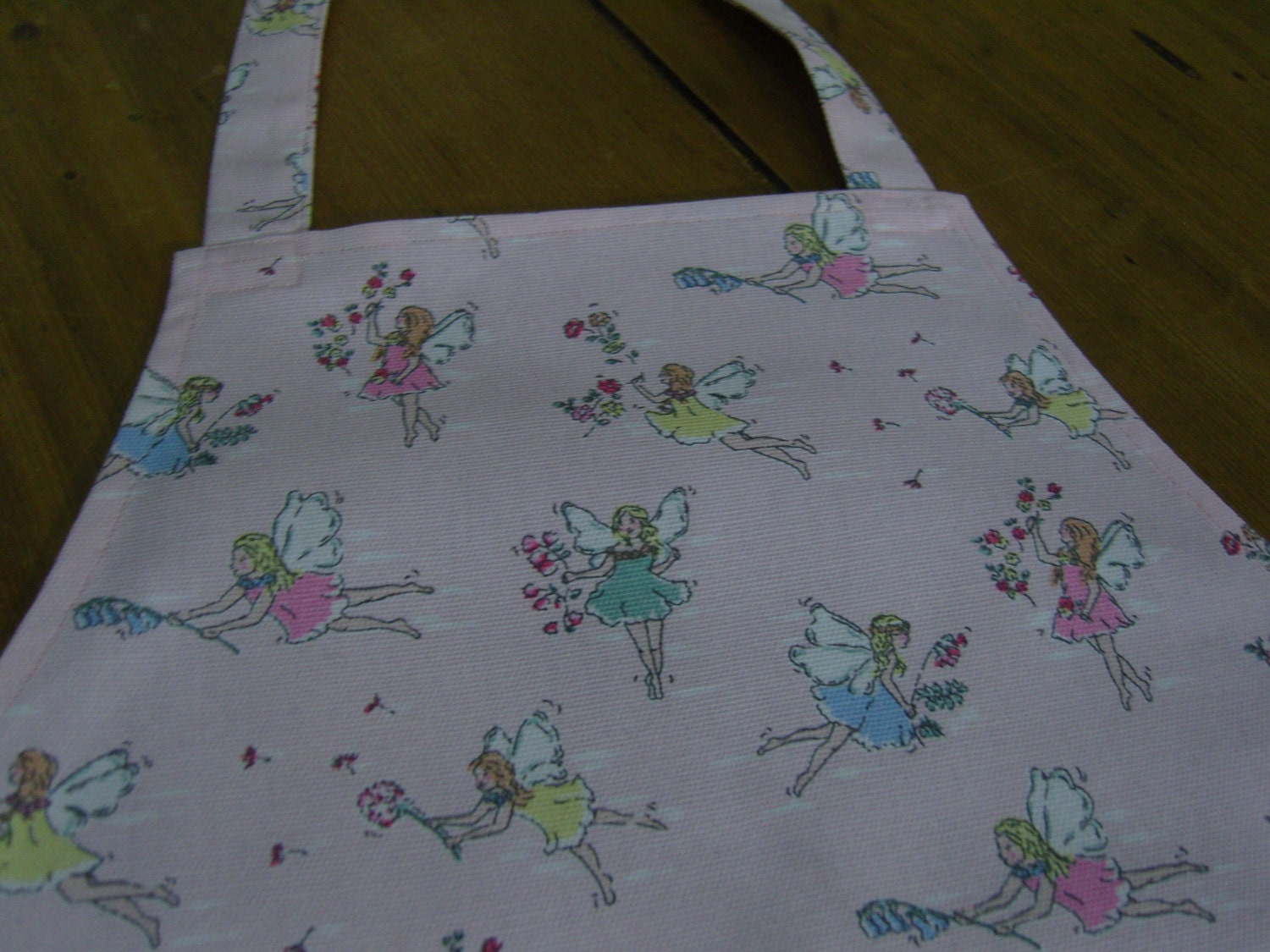 cath kidston fairy fabric child 39 s apron etsy. Black Bedroom Furniture Sets. Home Design Ideas