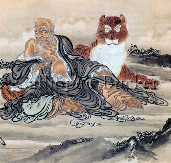 Fenggan hanshan watercolor