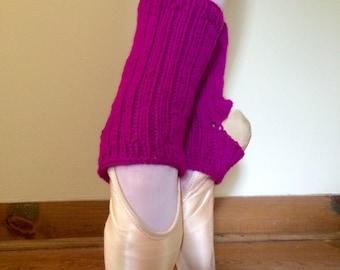 Ballet Ankle Warmers/Yoga Socks: Magenta