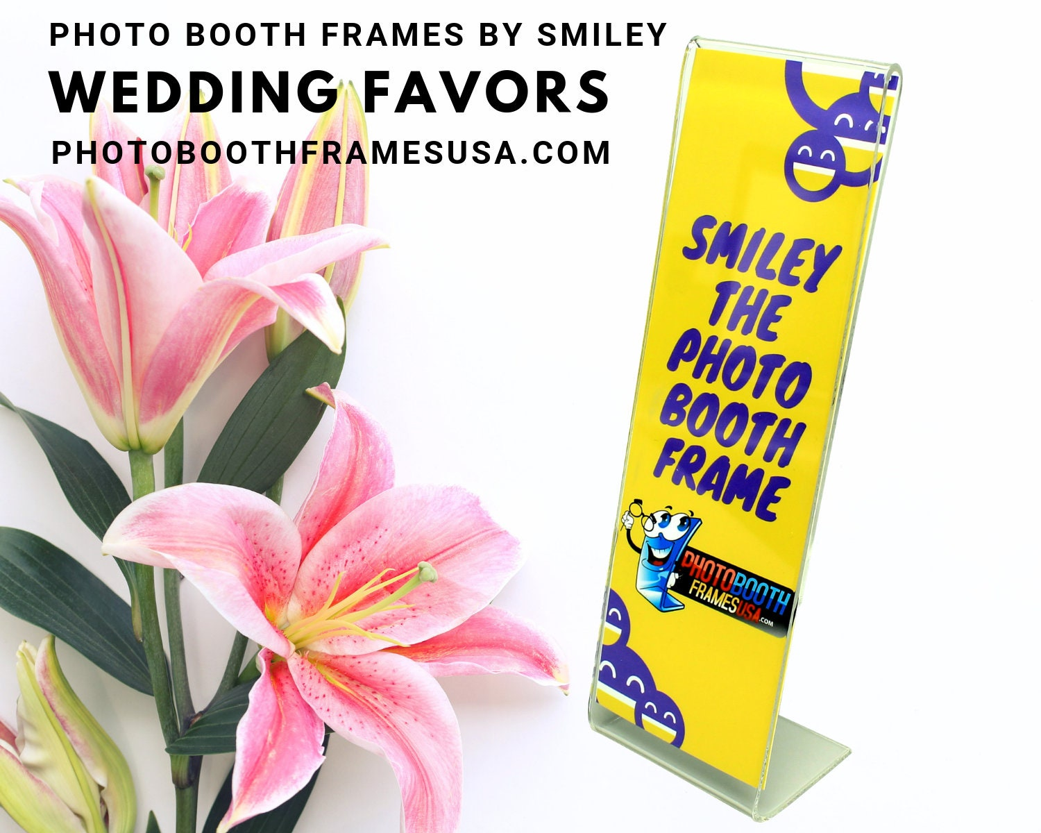 2x6 Photo Booth Frame - Low Cost Photo Booth Frames - Wedding Favors -  Party Favors - Photo Booth Rental Favors - Acrylic Picture Frames