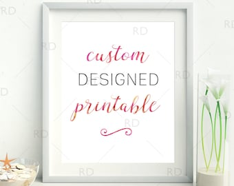 Custom Printable / Custom Wall Art / Personalized Printable / Nursery Room Wall Art, Printable Gift, Present, Wedding Gift / Gift for Mom