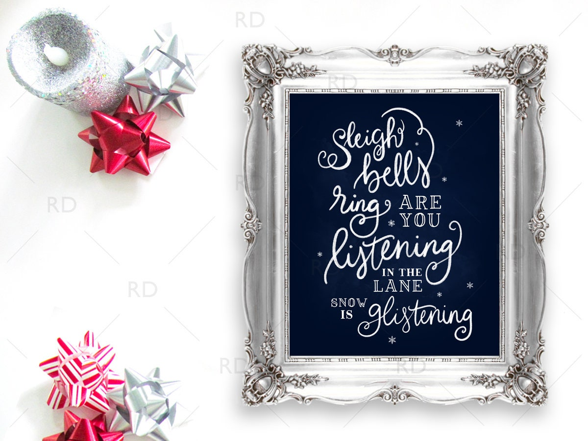 Sleigh Bells Ring are you Listening In the Lane PRINTABLE | Etsy