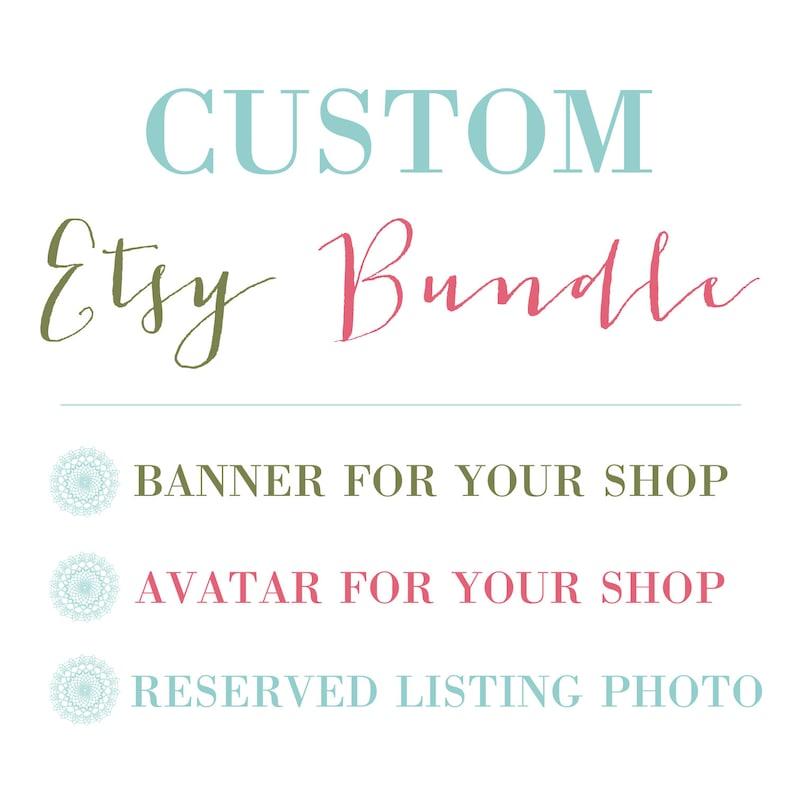 Custom Etsy Shop Bundle / Etsy Set  Custom banner avatar and image 0