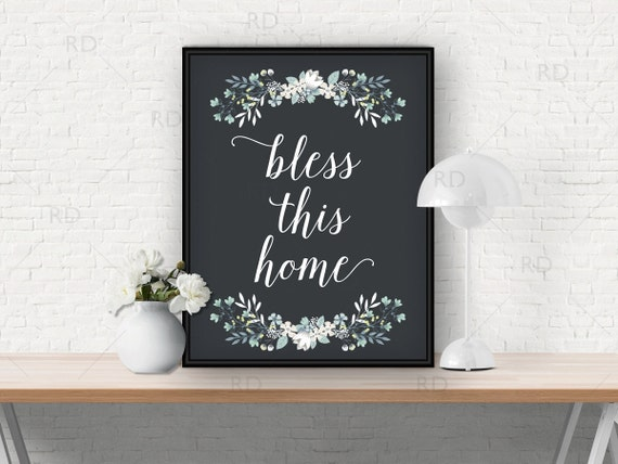 Bless this home PRINTABLE Wall Art / Bless this home print | Etsy
