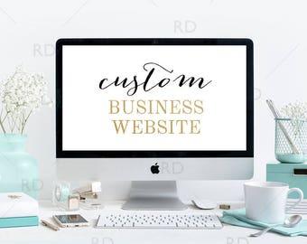 ONE WEEK SALE! Website Design / Custom Website / Website Design / Small Business Custom Wordpress Website / Etsy Business Website Design