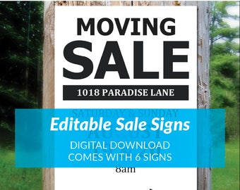 for sale sign template sale printable instant download