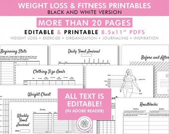 Weight loss chart | Etsy