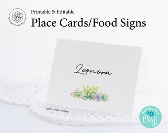 Place Cards/Buffet Signs