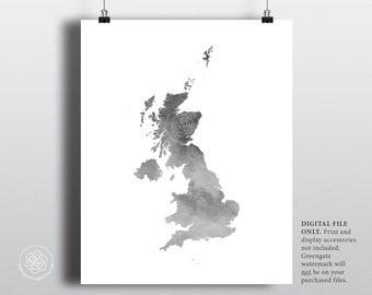 Großbritannien Karte Umriss.Großbritannien Karte Umriss Etsy