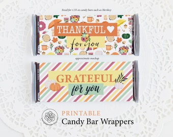 Fall Candy Wrapper Etsy