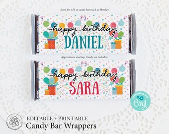 Birthday Candy Bar Etsy