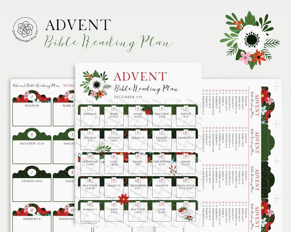 Advent Bible Reading Plan  PRINTABLE  Advent calendar