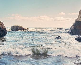 Ocean Photo Print: coastal art print, beach art, pacific ocean decor, oregon wall art, oregon coast, ocean waves, west coast, gifts for him