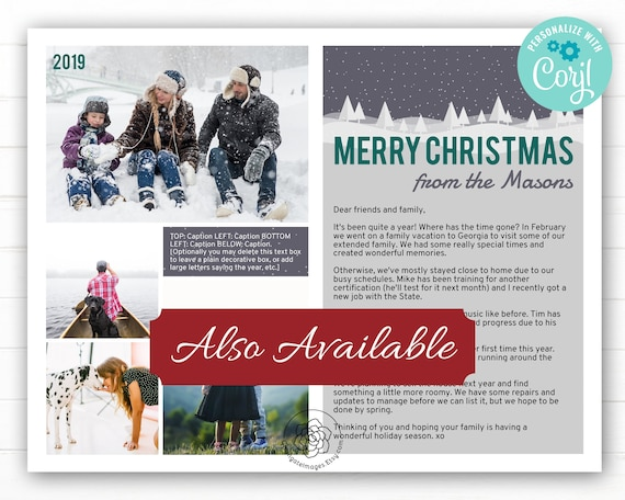 Christmas Letter Template - Corjl, holiday letter template, family on holiday newsletter templates, family christmas letter ideas, family love letters for christmas, family newsletter ideas,