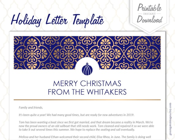 Christmas Letter Template - holiday letter template, family letter on holiday newsletter templates, family christmas letter ideas, family love letters for christmas, family newsletter ideas,