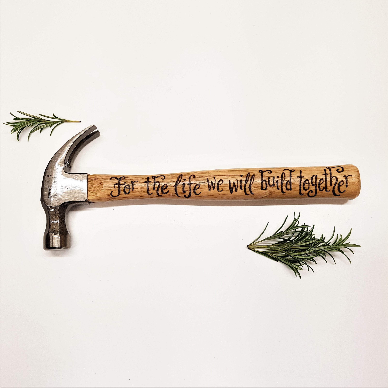 Personalised Hammer Hand Engraved Hammer Gift For Boyfriend