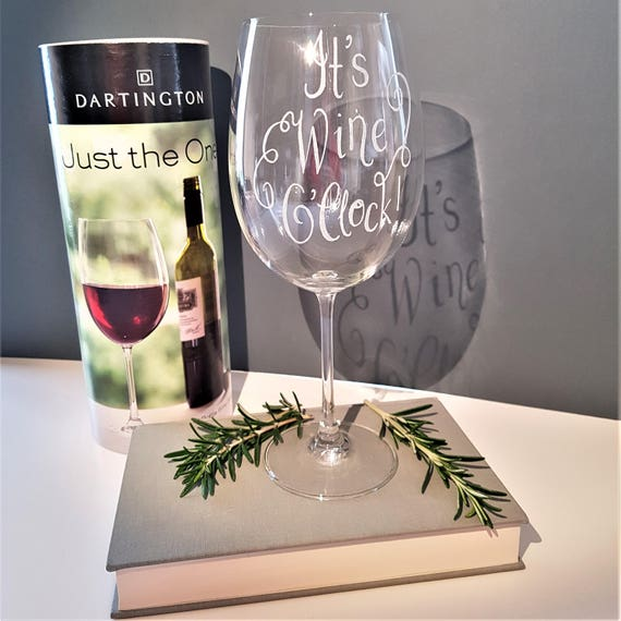 Personalised Giant Wine Glass Custom Gift Idea Birthday Etsy