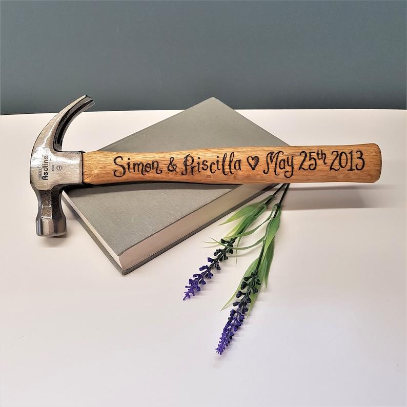 Wooden Anniversary Anniversary Present Gift For Husband Romantic Gift Diy Custom Tool 5th Wedding Anniversary Hammer Gift From Wife