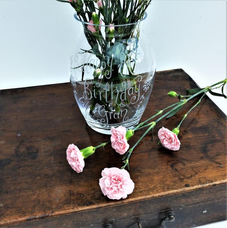 4297ea571b9 Personalised Glass Vase Custom Gift Idea Birthday Gift