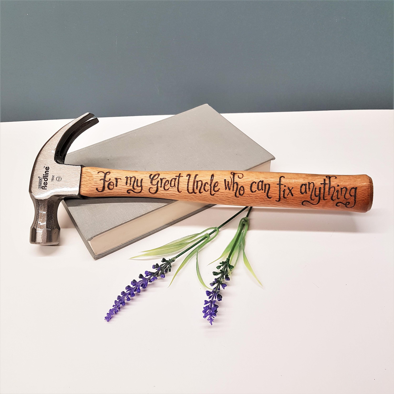 Personalised Hammer Custom Gift Idea Great Uncle Birthday