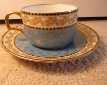 Vintage Hutschenreuther Coffee Cup and Saucer - High Quality Bavarian Porcelain