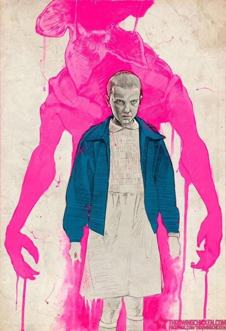 Stranger Things:  Eleven and The Monster Art Print Poster image 0