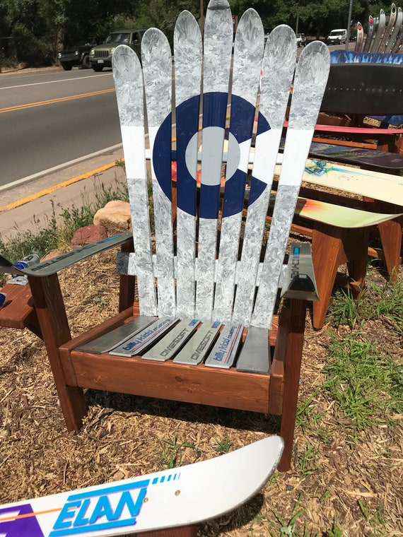 Marbled Gray Chairs Custom Adirondack Chairs Recycled Ski   Etsy