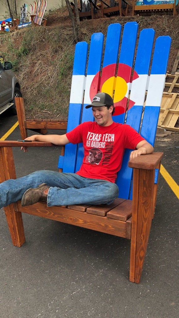 Adirondack Chair Sedie Da Giardino.Giant Adirondack Chair Wood Ski Chair Oversized 72 6 Etsy
