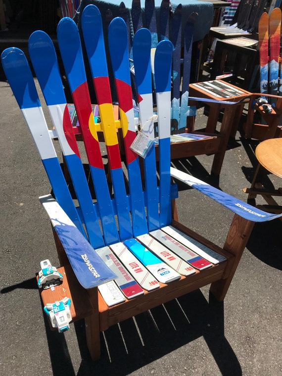 Peint La Chaise Adirondack Ski Chaise Longue Dans Le Etsy