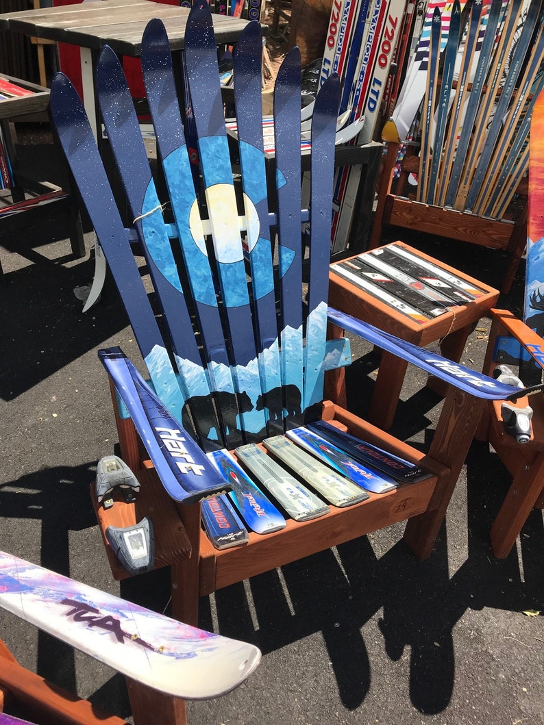 Amazing Adirondack Chair Patio Chair Outdoor Furniture Wood Chair Recycled Chairs Colorado Bears Painting Mountain Moon Mural Ski Chair Pdpeps Interior Chair Design Pdpepsorg