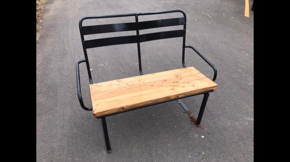 Miraculous Re Purposed Ski Chairlift Bench Powder Coated Black Front Porch Bench Yard Memorial Bench Outdoor Park Bench Patio Furniture Ocoug Best Dining Table And Chair Ideas Images Ocougorg