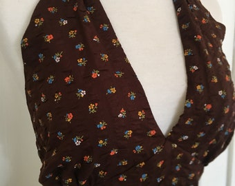 1970's style Halter Top Vintage Fabric