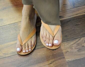 a555bf93d Leather flip flops