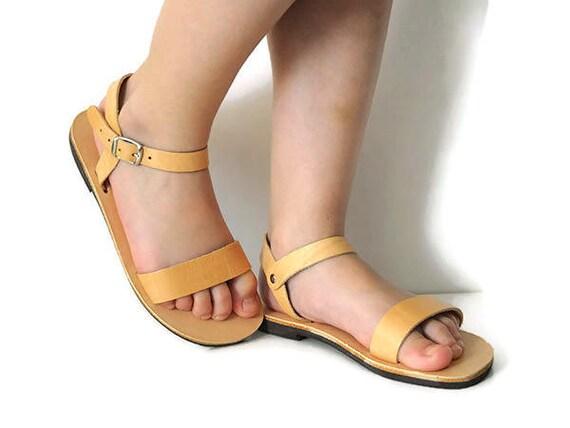 837faf94c476 Infant leather sandals baby leather sandals Greek Sandals