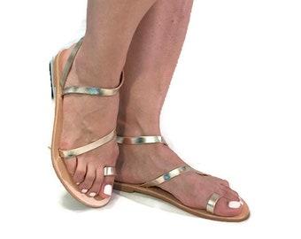 Gold sandals, Golden  sandals, leather sandals, Greek sandals, bridal sandals,  bridesmaids sandals, bridal sandals, wedding sandals