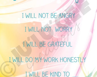 Reiki Principles digital art