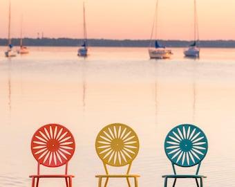 Chairs at Memorial Union, UW Madison Terrace, Wisconsin Photography, Madison Photography, Madison Wisconsin Art, Lake Mendota, Wall Decor