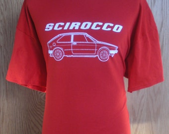 1975 - 1981 Volkswagen Scirocco Logo T Shirt - VW MK1Coupe