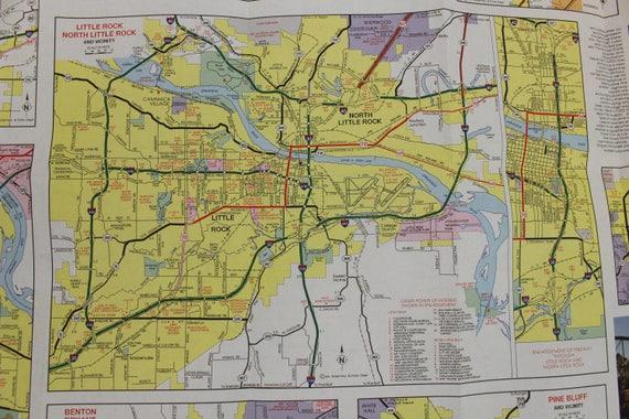 Set of 5 Vintage Arkansas Highway Maps plus 3 Bonus Maps | Etsy