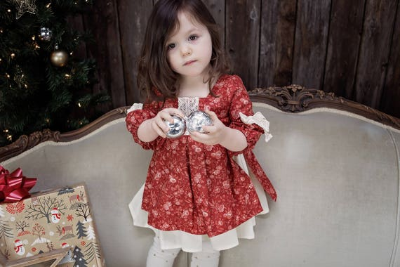 Girl Christmas Dress Girls Holiday Dress Toddler Girl Etsy