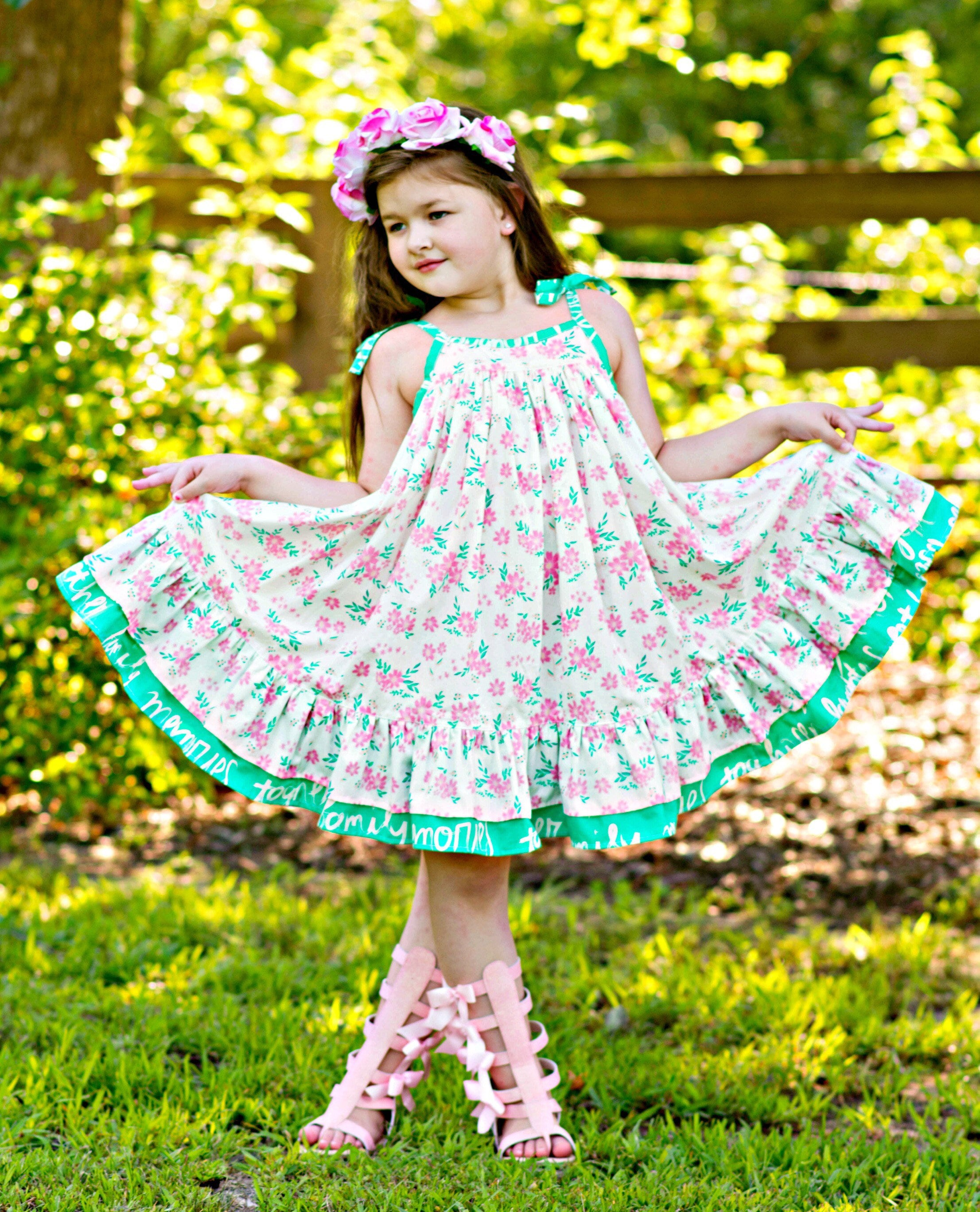 Girls twirl dress dance dress floral dress spring summer etsy jpg 2212x2736  Spring church party 6e66003dfaf0