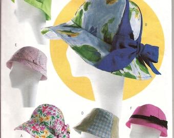 4cba8d7fe71 Women s Summer Bucket Hat Sewing Pattern   Butterick 4204   UNCUT