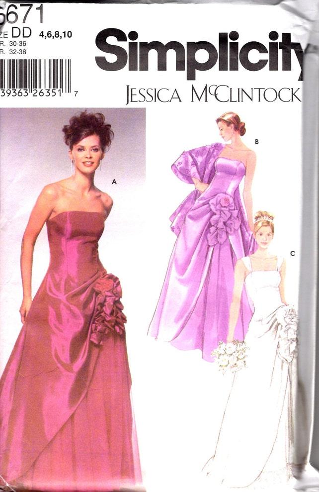 Jessica McClintock Hochzeit Kleid Prom Kleid Abendkleid Muster | Etsy