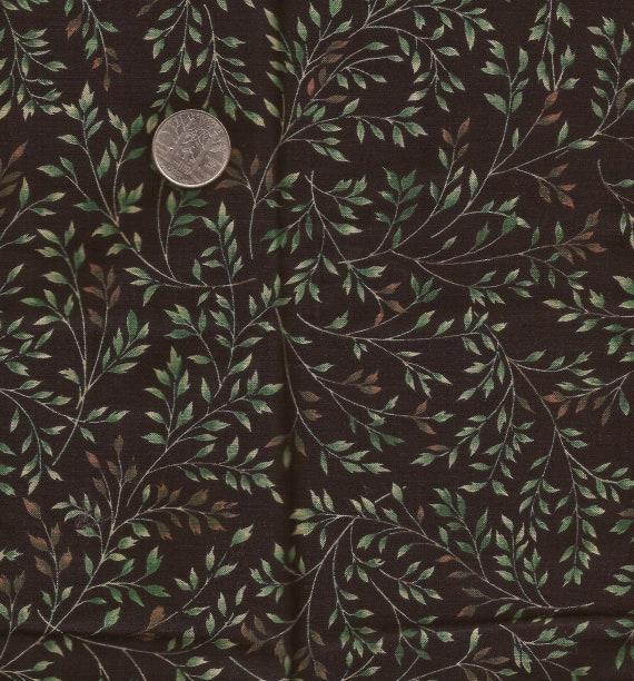 "100/% Cotton Fabric /""Second Honeymoon//Paris/"" Maywood Studios Green w//Floral"