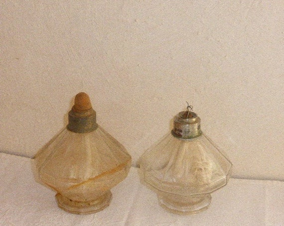 Lampe Berger faceted, art deco, stamped: LAMP BERGER, made in France, old and collector