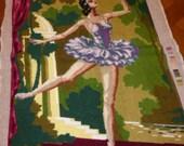 Canvas, star dancer, ROYAL PARIS, VINTAGE n 2668 Made in France, 100 cotton
