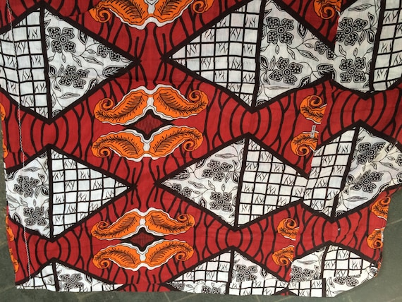 Vintage african colorful fabrics, colorful and geometric prints