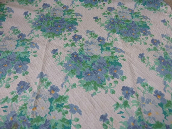 Coupon of fabrics the blue HORTENSIAS, Designed for TACO by Jean MARION, thick fabrics slightly embossed with a diamond shape and relief
