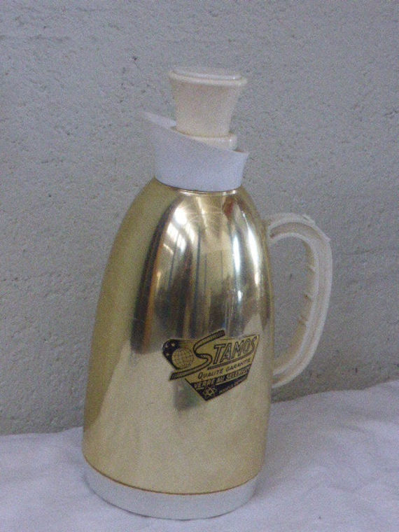 Thermos STAMOS, vintage 1950, bakelite and metal, collector, made in France